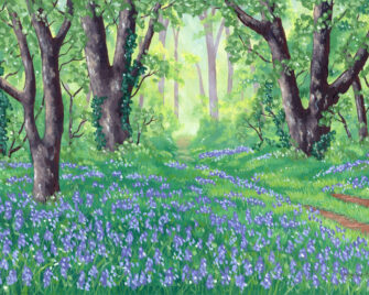 Bluebells Oil Painting