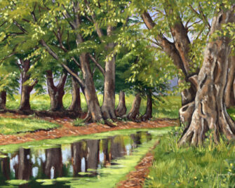 By The Old Trees Oil Painting