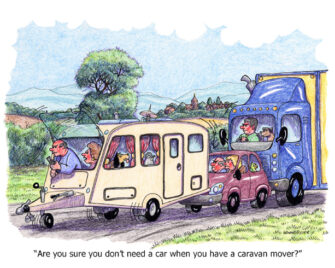 """Are you sure you don't need a car when you have a caravan mover?"""