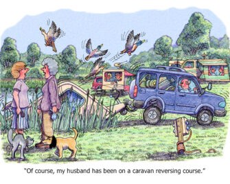 """Of course, my husband has been on a caravan reversing course."""