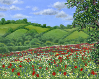 Flower Meadow Oil Painting
