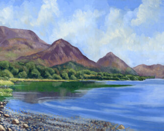 Lakeshore Oil Painting