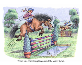 There was something fishy about the water jump.