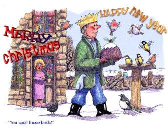 Birds & Christmas Pud