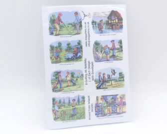 Golfing A6 Notelets Pack Cover