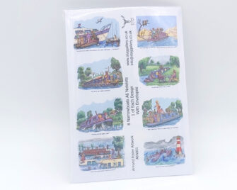 Narrowboats A6 Notelets Pack Cover